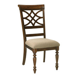 Standard Furniture - Standard Furniture Woodmont Side Chair in Cherry (Set of 2) - Side Chair in Cherry belongs to Woodmont collection by Standard Furniture. Woodmont Features graceful and soft shaping in a clean urban style. Striking lattice accents on chair backs are perfect for today's modern home. Rich design and elegant styling invite a relaxed setting in your home.