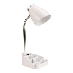 All the Rages - All the Rages LD1002 Limelights 1 Light Gooseneck Organizer Desk Lamp with iPad - Specifications: