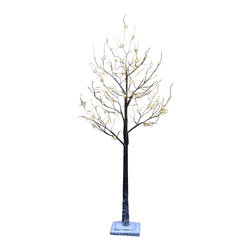 Lightshare - Lightshare LED SnowTree: 10 LED Snow Flake Light, Warm White, 5.5ft 96 Lights - Description: