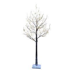 Lightshare - Lightshare LED SnowTree: 10 LED Snow Flake Light, Warm White, 5.5ft 96 Lights - Description: