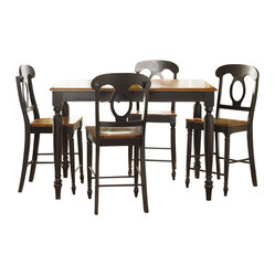 Liberty Furniture Low Country Black 5 Piece 54 Inch Square Counter Height Set w/