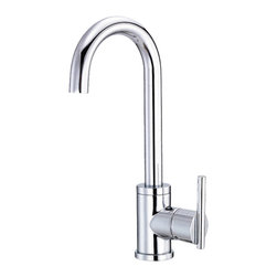 "Danze - Danze D151558 Chrome Bar Faucet Side Mount - Danze D151558 Chrome Single Handle Bar Faucet is part of the Parma collection.  D151558 Single hole mount Bar Faucet has a 5 1/4"" long and 13"" high swivel spout.  D151558 Single lever handle meets all requirements of ADA.  California and Vermont compliant."