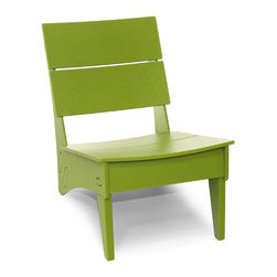 Loll Designs - Vang Chair, Leaf Green - Loll's Vang Lounge Chair is yet another reason to look forward to after-hours lollygagging. This low, compact chair has a curved seat and back that feel just right on your backside. Its small stature makes it a perfect chair for smaller spaces or if you just like to move your outdoor seating around to find that perfect spot.
