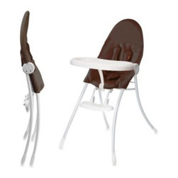 Bloom - bloom nano Urban High Chair in White/Henna Brown - The nano Urban high chair combines fresh style with high function and easily adjusts to all of your feeding time needs. A five-point harness is adjustable for your growing baby and the leatherette seat is ultra-comfortable and easy to wipe clean.