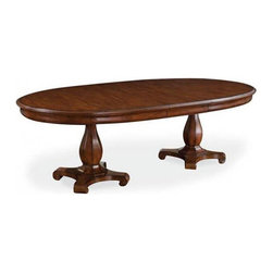 ART Furniture - Margaux Oval Pedestal Table - ART-166225-2630TP-2630BS - Margaux Collection Pedestal Table
