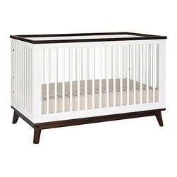 Babyletto - Babyletto | Scoot 3-In-1 Convertible Crib With Toddler Bed Conversion Kit - The Scoot 3-In-1 Convertible Crib is the perfect centerpiece for the modern nursery. Designed to grow with your child, Scoot converts to a toddler bed and a daybed for years of enjoyment. Transitioning from one set-up to another is easily accomplished in a few simple steps. With a contrasting two-tone finish, gently tapered legs, and elegant lines, Scoot is the ideal crib for the modern nursery. Product Features:
