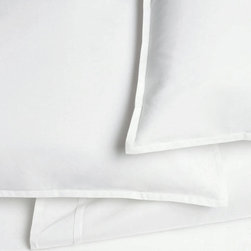 Area - Area Pleat White Organic Cotton Fitted Sheet - Crisp white, tailored pleated details. A very soft feel and modern look for your bed.