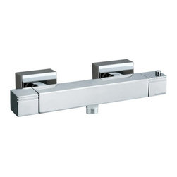 Nameeks - Ramon Soler by Nameeks US-4734K Bath Shower Mixer - RAMON SOLER US-4734K - Shop for Shower Hardware from Hayneedle.com! Add a streamlined shower mixer that won't clash with your contemporary decor. The Roman Soler by Nameeks US-4734K Bath Shower Mixer has a bar-like rectangular design with subtle decorative flairs and sharp angles. A dual knob-handle design provides the user with precision control over the water's temperature mix and flow-pressure ensuring a comfortable shower or relaxing bath every time. The unit is made from solid brass and features a threaded bottom-mounted spout for easy incorporation of an extendable hose and shower head. A polished chrome finish keeps the brass protected from tarnish and rust.About NameeksFounded with the simple belief that the bath is the defining room of a household Nameeks strives to design a bath that shines with unique and creative qualities. Distributing only the finest European bathroom fixtures Nameeks is a leading designer developer and marketer of innovative home products. In cooperation with top European manufacturers their choice of designs has become extremely diversified. Their experience in the plumbing industry spans 30 years and is now distributing their products throughout the world today. Dedicated to providing new trends and innovative bathroom products they offer their customers with long-term value in every product they purchase. In search of excellence Nameeks will always be interested in two things: the quality of each product and the service provided to each customer.