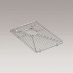 "KOHLER - KOHLER Vault(TM)/Strive(TM) stainless steel sink rack for right basin, 15-15/16"" - Ensure the long-lasting beauty of your Vault or Strive sink with this sink rack. Designed to fit the small right basin, this stainless-steel rack helps safeguard your fragile dishes and protects the sink's surface."