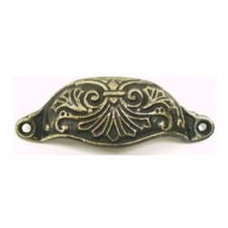 Top_Knobs - Top Knobs - Abbot Cup Pull  3 15/16 Inch CC - Dk Antique Brass - M62 - Chateau Collection, Iron Base Material,  Weight: 0.17 Lbs