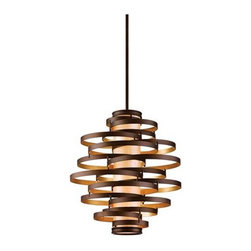 Vertigo Large Pendant Light | Lamps Plus - Get a bit of Bravura Modern style without going completely overboard with this hand-crafted iron pendant light.