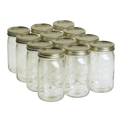 Kerr Wide Mouth Jar - You can't go wrong with affordable, quart-size Mason jars. I use these for storing the majority of my dried grains, like rice and millet.