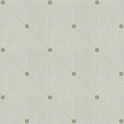 """Ballard Designs - Salisbury Fabric by the Yard - Content: 100% polyester. Repeat: Railroaded fabric, 9 3/4"""" repeat. Care: Dry clean only. Width: 54"""" wide. Stitched diamond & dot pattern on velvety spa blue. . Repeat: Railroaded fabric, 9 3/4"""" repeat .  . Width: 54"""" wide . Because fabrics are available in whole-yard increments only, please round your yardage up to the next whole number if your project calls for fractions of a yard. To order fabric for Ballard Customer's-Own-Material (COM) items, please refer to the order instructions provided for each product.Ballard offers free fabric swatches: $5.95 Shipping and Processing, ten swatch maximum. Sorry, cut fabric is non-returnable."""
