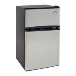 Avanti - 3.1 Cu. Ft Refrigerator, Two Door, Black with Stainless Steel Doors - Features: