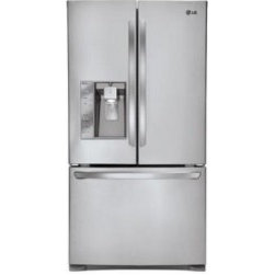 """LG - Stainless Steel Fridges - LG LFX25991ST 36"""" 24.6 Cu. Ft. Freestanding Counter Depth French Door Refrigerator With Smart Cooling Plus System, F3-Tier Organization Freezer, Slim SpacePlus Ice System, Stainless Steel"""