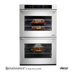 """Dacor - RO230S Renaissance 30"""" Double Electric Wall Oven with 4.8 cu. ft. Convection Ove - Go ahead and expand your guest list because the Renaissance 30 Double Wall Oven offers you twice the capacity and flexibility to prepare the feast you never dreamed possible With 48 cubic feet of space in each oven - the largest wall oven interior on..."""