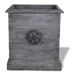 Amedeo Design, LLC - USA - Square Icon Planter - Our Square Icon Planter is truly unique and has tremendous versatility inside or out.