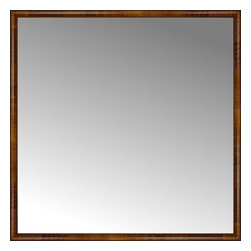 """Posters 2 Prints, LLC - 71"""" x 71"""" Belmont Light Brown Custom Framed Mirror - 71"""" x 71"""" Custom Framed Mirror made by Posters 2 Prints. Standard glass with unrivaled selection of crafted mirror frames.  Protected with category II safety backing to keep glass fragments together should the mirror be accidentally broken.  Safe arrival guaranteed.  Made in the United States of America"""