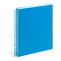 Spiral Notebook, Pool Blue, Large - Spiraling into control has never been so easy.