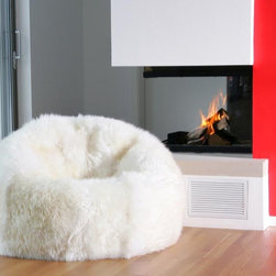 Sheepskin Bean Bag Chairs - Large Bean Bag Chair Filled or un-Filled Many Colors to Choose 3' Diameter https://www.ultimatesheepskin.com/product/sheepskin-bean-bag-chair-large/