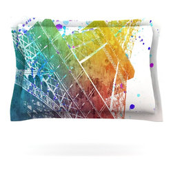 "Kess InHouse - Nika Martinez ""Paris Je T'aime"" Watercolor Pillow Sham (Cotton, 40"" x 20"") - Pairing your already chic duvet cover with playful pillow shams is the perfect way to tie your bedroom together. There are endless possibilities to feed your artistic palette with these imaginative pillow shams. It will looks so elegant you won't want ruin the masterpiece you have created when you go to bed. Not only are these pillow shams nice to look at they are also made from a high quality cotton blend. They are so soft that they will elevate your sleep up to level that is beyond Cloud 9. We always print our goods with the highest quality printing process in order to maintain the integrity of the art that you are adeptly displaying. This means that you won't have to worry about your art fading or your sham loosing it's freshness."
