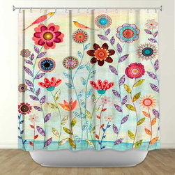Shower Curtain HQ - Morning Hour by Sascalia Fabric Shower Curtain, Made in the USA