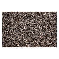 Dean Flooring Company - Mainstream 60 oz. Plush 5' x 7' Carpet Area Rug, Black & Beige Tweed - Plush 5' x 7' Area Rug by Dean Flooring Company. Finished on all four sides with attractive color matching yarn. Matches Dean Flooring Company stair treads. 100% Stain Resistant Solution Dyed Polyester. Jute back.