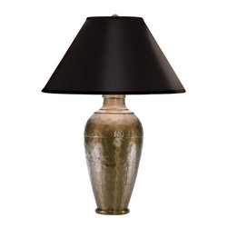 Robert Abbey - Robert Abbey Foundry Vertically Gifted Pot Table Lamp 9939BCOP - Copper Finish over Cast Metal