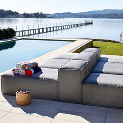 Outdoor Furniture Collections 2014 - Ord modular lounge shown here in Basics Storm fabric