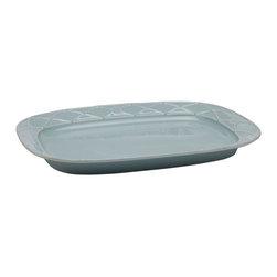Casafina - Large Rectangular  Platter - The Meridian stoneware collection offers a wide variety of dinnerware items as well as serving pieces.