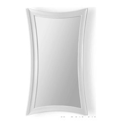 Bassett Mirror Company - Bassett Mirror Pearl Hourglass Leaner Mirror - Gloss White - Pearl Hourglass Leaner Mirror - Gloss White belongs to Contempo Collection by Bassett Mirror Company Pearl Hourglass Leaner Mirror - Gloss White Mirror (1)