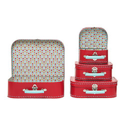 Multi Dots Suitcases - I've always adored these Paper Source suitcases. They're a whimsical way to wrap a gift, plus the suitcase itself is a gift! Perfect for the young — or young-at-heart.