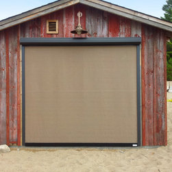 Titan Screen Kramer Residence - Titan Screens as exterior window coverings utilizing Sunbrella Tresco Birch fabric.