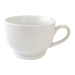 Blanc Footed Coffee Cup, 16-Ounce - This coffee cup isn't the size of a gallon, yet it still will allow you to be sipping for quite some time. Or if you're like me, it makes the best teacup in the morning or evening that can hold just enough to wake me up or calm me down without shocking me to the bone.