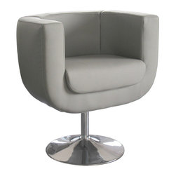 White Line Imports - Bliss Gray Leatherette Chair - Features: