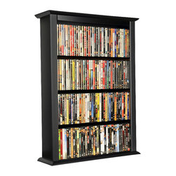 Venture Horizon - Venture Horizon Single Wall Mount Media Cabinet-White - Venture Horizon - CD and DVD Media Storage - 242111WH - Free up floor space in your room without hiding away all your CDs DVDs and Media with the Venture Horizon Single Wall Mount Media Cabinet. Made out of sturdy engineered wood and designed to fit easily on a wall this piece can hold a large amount of media regardless of size and without worry of buckling or collapsing. Available in five colors this piece can easily blend with your decor and entertainment furniture or act as a brilliant accent to a room making your media a conversation for your guests. Keep all your media looking stylish and close at hand with the Venture Horizon Single Wall Mount Media Cabinet.