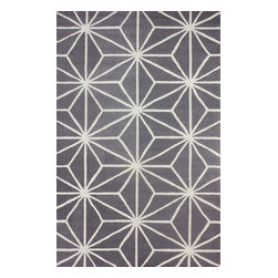 """nuLOOM - Contemporary 7' 6"""" x 9' 6"""" Ash Hand Hooked Area Rug BC56 Star Trellis - Made from the finest materials in the world and with the uttermost care, our rugs are a great addition to your home."""