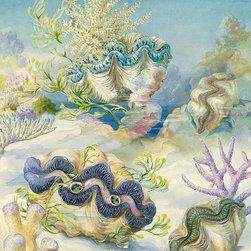 Magic Murals - Giant Clams in Sand Wallpaper Wall Mural - Self-Adhesive - Multiple Sizes - Magi - Giant Clams in Sand Wall Mural