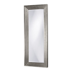 Howard Elliott - Howard Elliott 43057 Delano Bright Stepped Silver Leaf Mirror - Bright Stepped Silver Leaf Mirror belongs to Delano Collection by Howard Elliott The design of our Contemporary Delano mirror features a large rectangular frame with stepped levels with a bright silver leaf finish. Its oversized stature makes it perfect for leaning against the wall. Mirror (1)