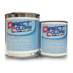 Direct Colors Inc. - 550 Water Based Polyurethane Sealer Mini Kit - 550 Water-based Polyurethane Concrete Sealer Mini Kit includes 0.17 gallon container of Part A (Resin) and 0.056 gallon container of Part B (Hardener).