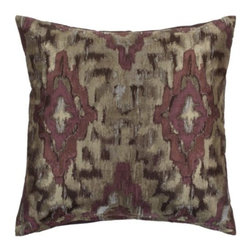 "Z Gallerie - Raj Pillow 24"" - Enliven your décor with satiated hues of aubergine with our exclusive Raj Pillow.  Printed in an Ikat fashion with blends of colors decoratively intermingled creates a stunning display of contrast and texture. Use alone as a show stopping accent pillow, or pair together with a contrasting mix of prints for an enticing display of pattern."