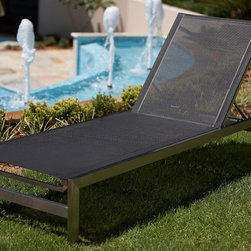 Outdoor Furniture Collection - Ultimo daybed in black Batyline weave and Stainless steel frame