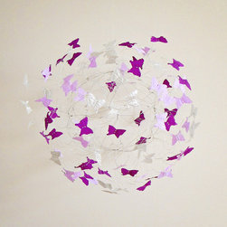 RR - Lilac and Lavender Purple Butterfly Mobile - Lilac and Lavender Purple Butterfly Mobile