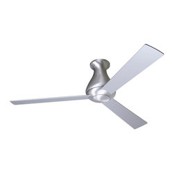 "Modern Fan Company - Modern Fan Company Altus Hugger Brushed Aluminum 52"" Ceiling Fan + Wall Control - Features:"