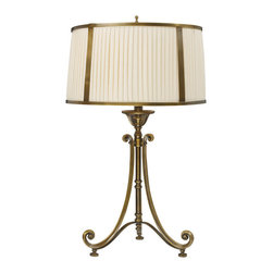 Dimond Lighting - Dimond Lighting Williamsport 11052/1 Table Lamp in Vintage Brass Patina - 11052/1 Table Lamp in Vintage Brass Patina belongs to Williamsport Collection by Dimond Lighting Table Lamp (1)