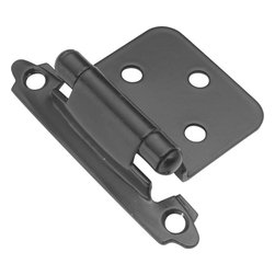 Belwith / Hickory - Belwith Hickory Black Surface Self-Closing Flush Hinge (2-Pack) P144-BL Hardware - Functionalism is the principal that design is based on the purpose of that piece.  Hinges, hooks, catches, drawer slides and screws.  All designed for a specific purpose and necessary in every home.. Product Name: Black Surface Self-Closing Flush Hinge (2-Pack)Finished: Black FinishIncluded: Mounting Hardware IncludedSize . Type: Screw Center to Center in Inches: Diamter: Diamension Length in Inches: 2.63Diamension Width Inches: 1.936Diamension Height Inches: 0.734Weight in OZ: 3.2Product . Type: HingesStyle: FunctionalFinish Name: BlackAppearance . Finish: Reflective (Mirror)Color Palette: BlacksBasic Shape: Geometric/Angular