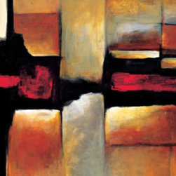 Amanti Art - Equinox Framed Print by Max Hansen - Artist Max Hansen contrasts bold, geometric shapes with a varied color palette to dramatic effect in this stunning Abstract Art reproduction. Skillfully blending rusty, earthy shades with stark black and white, Hansen offers an intriguing piece that invites interpretation.
