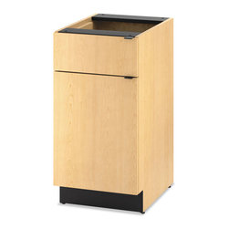 HON - HON Hospitality Single Base Cabinet, Door/Drawer - Keep supplies organized and out of the way with this versatile cabinet. Robust construction using metal-to-metal fasteners and wood dowels for a solid feel and lasting performance. Fully assembled and ready to install. Counter top and base cabinet sold and shipped separately-Order both.