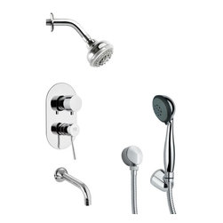 Remer - Contemporary Sleek Tub and Shower Faucet with Handheld Shower - Multi function tub and shower faucet.