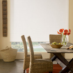Bali - Bali DiamondCell 3/8-inch Double Cell Cellular Shades: Daybreak II - Double cell semi-opaque Daybreak fabric in includes the best neutral colors around.  Bali DiamondCell shades offer fashion-forward window coverings at the right price.